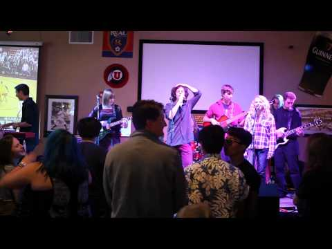 """Sandy School of Rock Showband covers """"Holy Diver"""" by Dio."""