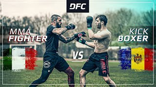 Italian PUNISHER vs. Moldovian BOMB 💣 | Crazy TKO | DFC