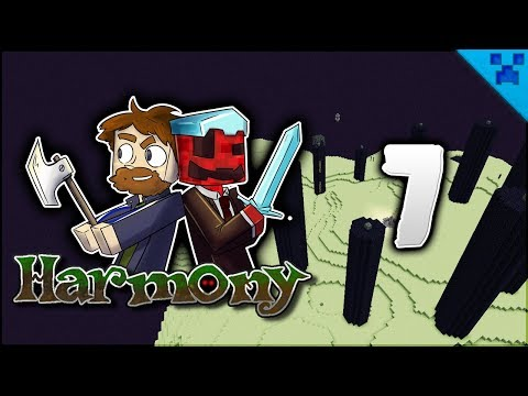 Minecraft Harmony   Fighting The Dragon! Enchants Galore!   Multiplayer Modded Survival Episode 7