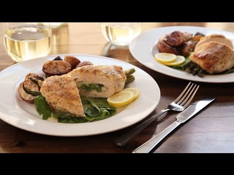 How to Make Asparagus And Mozzarella Stuffed Chicken Breasts | Chicken Recipes | Allrecipes.com