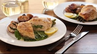 Chicken Recipes - How To Make Asparagus And Mozzarella Stuffed Chicken Breasts