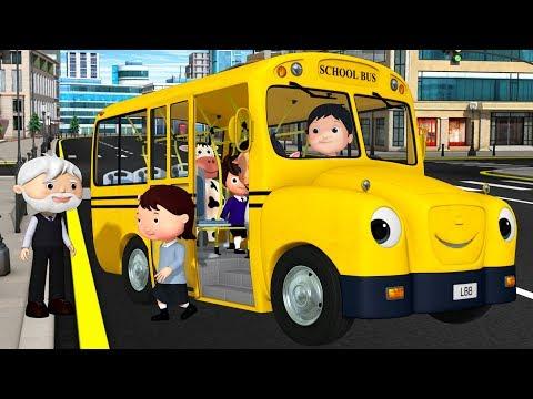 Wheels on The Bus Original  +More Nursery Rhymes & Kids Songs  Little Ba Bum