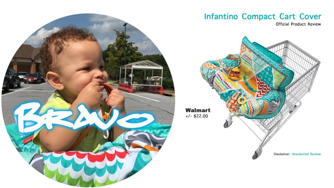 Infantino Compact Shopping Cart Cover Baby Review Youtube