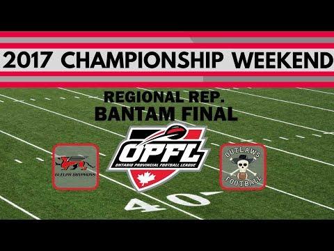2017 OPFL BANTAM CHAMPIONSHIP GAME - Regional Rep (AA) Division