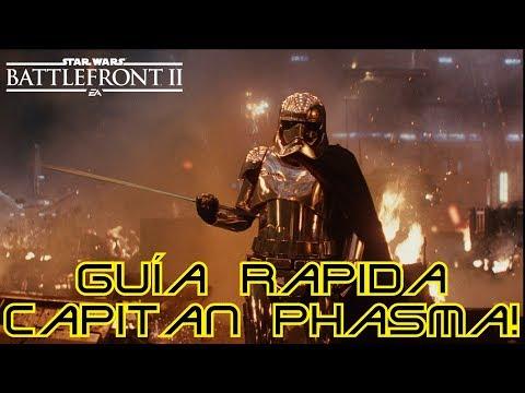 Guía Capitán Phasma! Cartas, habilidades y trucos! Star Wars Battlefront 2!