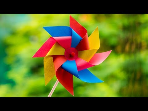 Windmill - Paper Windmill - How to make windmill - Pinwheel That spins - DIY - TheCraftyTube ❤️