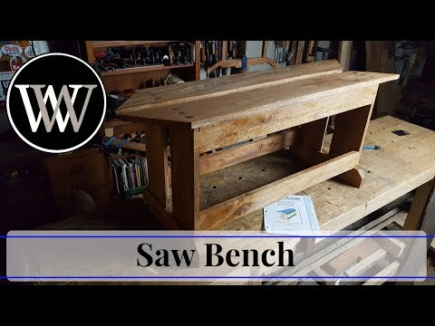 How To Make A Saw Bench // Hand Tool Woodworking project