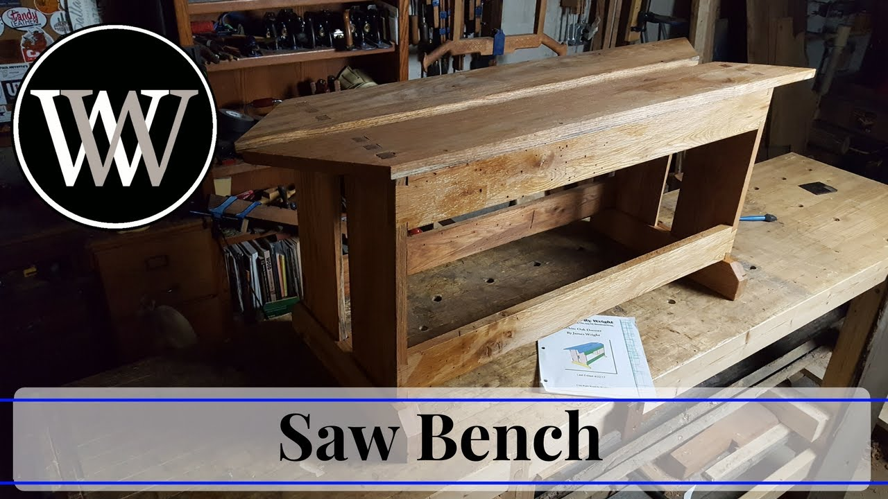 How To Make A Saw Bench Hand Tool Woodworking Project Youtube