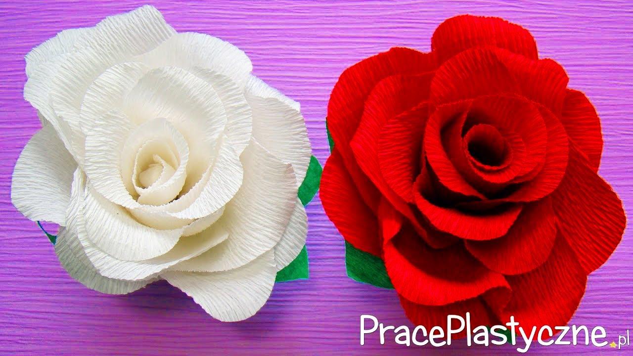Bardzo Prosta I Realistyczna Roza Z Papieru 6 Youtube Paper Roses Crepe Paper Roses Paper Flowers