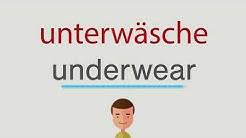 Wie heißt unterwäsche auf englisch