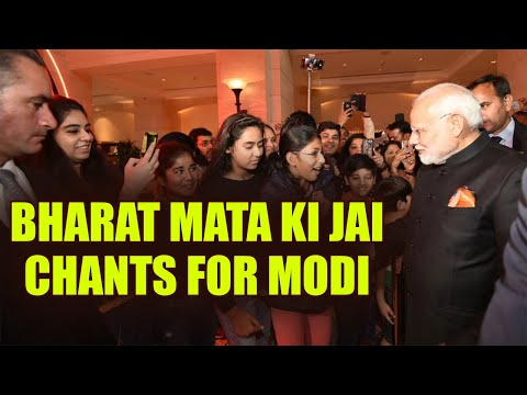 PM Modi greeted with 'Bharat Mata Ki jai' chants in Jordan's Amman, Watch | Oneindia News