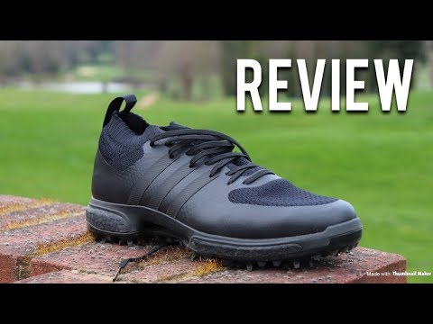 Adidas Tour360 Knit Golf Shoes Triple Black Boost | The REVIEW