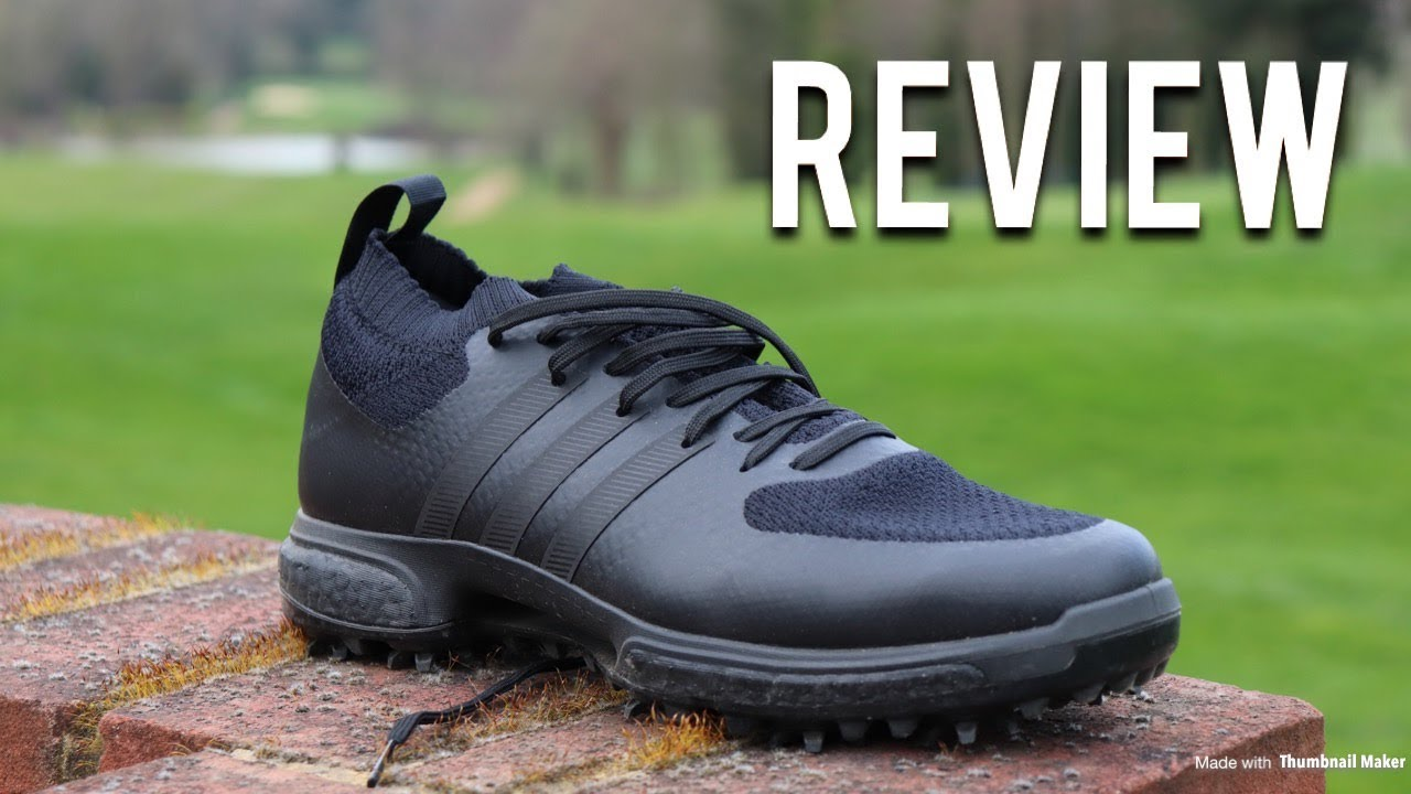 sports shoes f19a5 de70d Adidas Tour360 Knit Golf Shoes Triple Black Boost | The REVIEW - YouTube