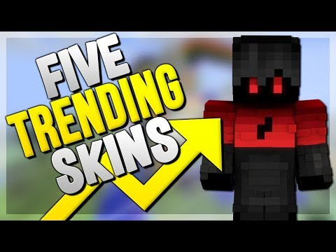 5 Trending Minecraft Skins! (Top Minecraft Skins)