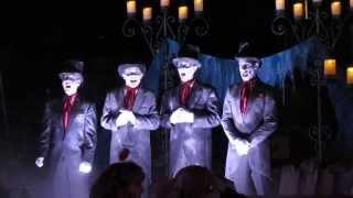 Cadaver Dans sing Grim Grinning Ghosts and Cruella DeVil at Mickey's Halloween Party Disneyland