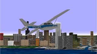 Microsoft Flight Simulator 98 | Lesson: Normal Landing: Cessna Skylane RG |