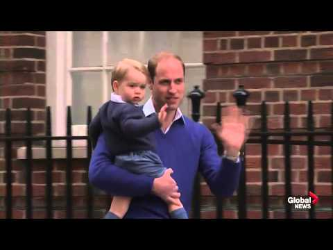 Prince William returns to hospital with his son, Prince George