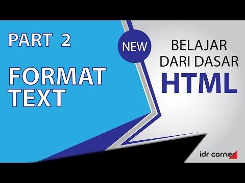 Tutorial Mudah Belajar Dasar HTML -  Format Text (Part 2)