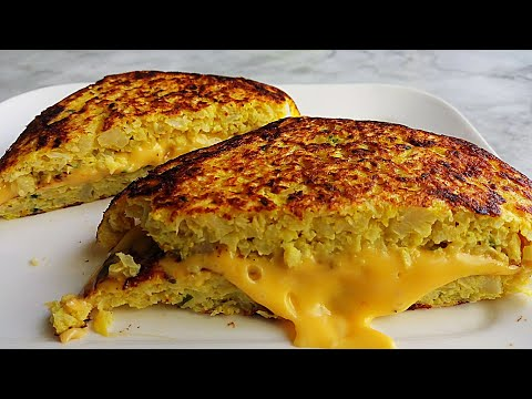 Delicious and Tasty Cauliflower Grilled Cheese| Vegetarian Recipes| Healthy Dinner Recipe