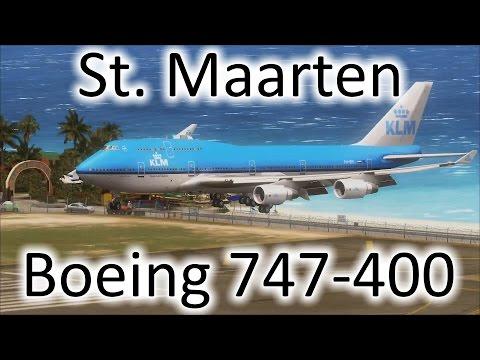 FSX | KLM 747 Landing at St. Maarten (TNCM) (Multiple Views)