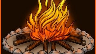 How To Draw A Very Realistic And Beautiful Bonfire (campfire)