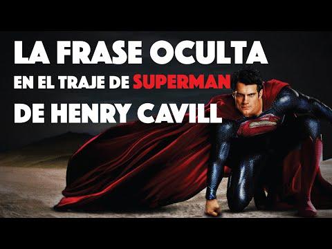 LA FRASE OCULTA en el traje de Superman de Henry Cavill