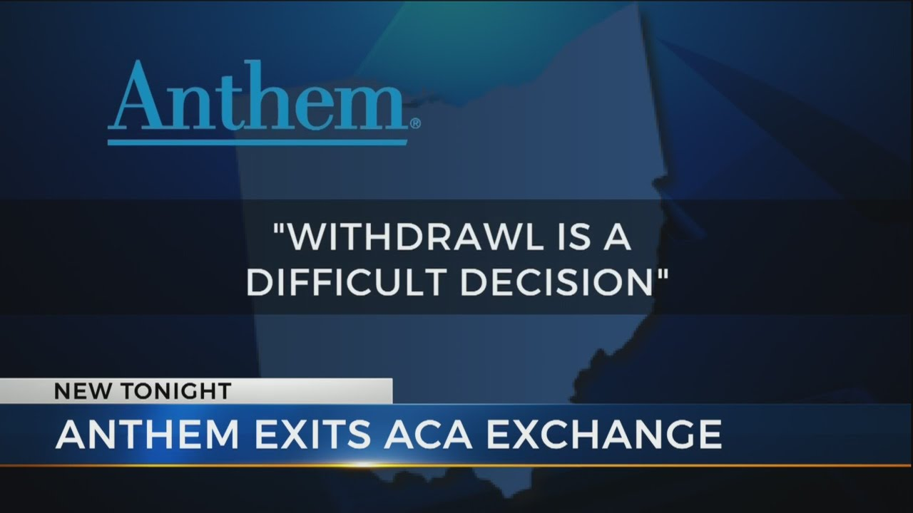 Anthem no longer selling health insurance in Ohio - YouTube