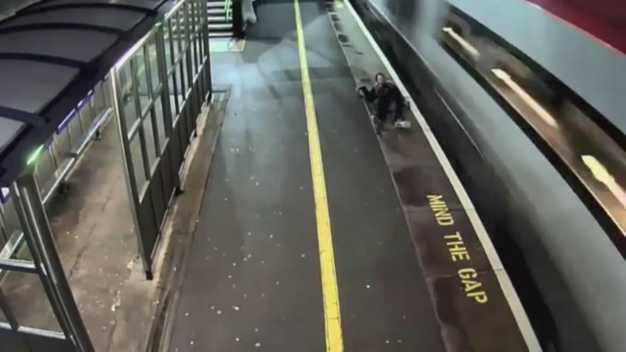 Man loses leg after trespassing on train tracks