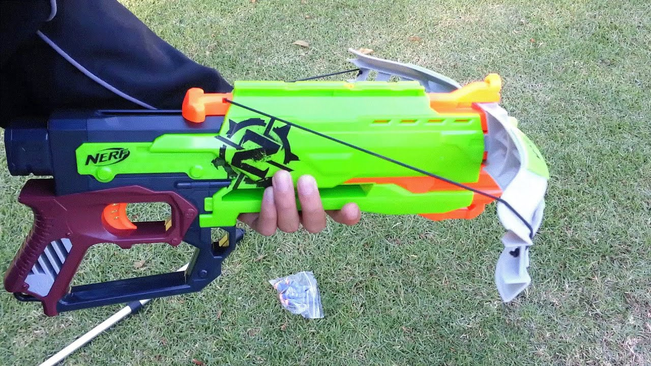 Nerf ZombieStrike Crossfire Bow Range Test Stock 1st Youtube