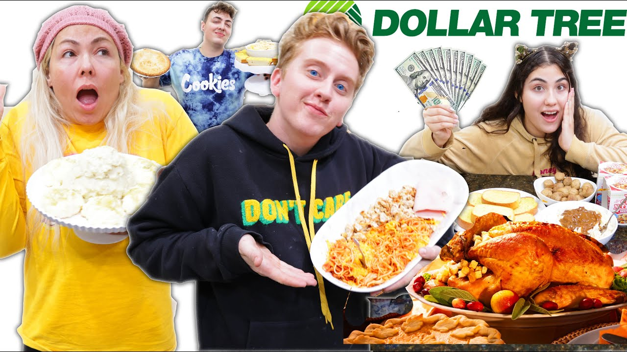 $1 vs $500 DOLLAR STORE THANKSGIVING CHALLENGE!