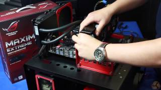 ASUS Z87 Maximus VI Extreme in depth video - including build sequence
