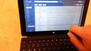 Full Gmail Website on Microsoft Surface RT