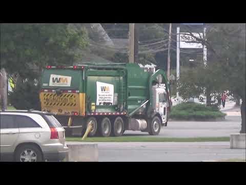 Waste Management Garbage Truck Front Loader Behind The Scenes