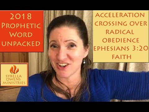 2018 Prophetic Word - whole year - Part 1 Unpacked | Sybella