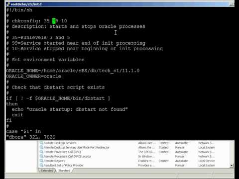 Oracle - Automating Database Startup on Linux and Windows