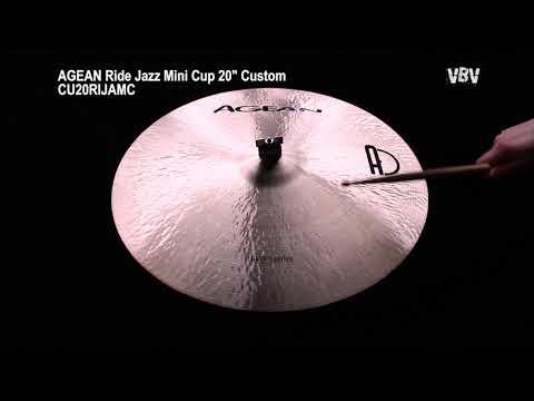 "20"" Ride Jazz Mini Cup Custom video"