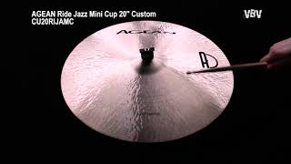 "20"" Ride Jazz Mini Cup Custom video"