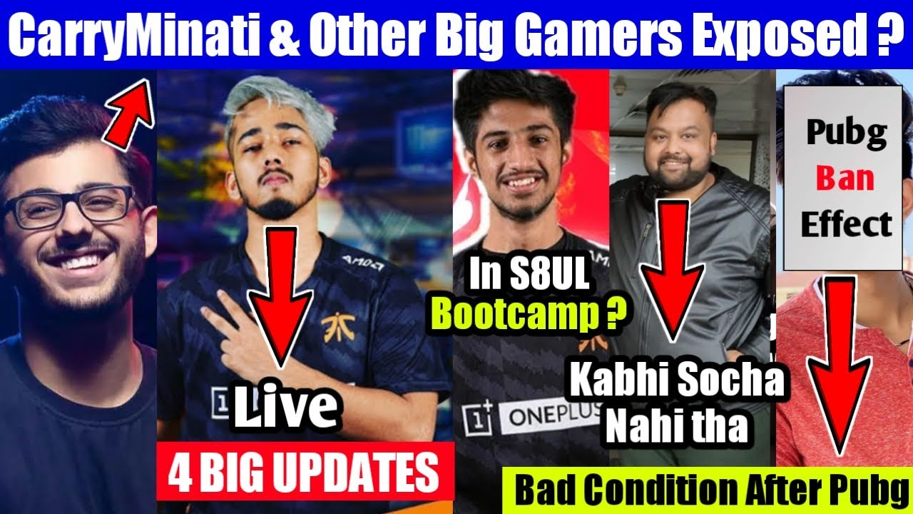 Scout Big Updates - live , Carryminati Exposed ?, Owais Special, 8bit Goldy, Destro, K18 Gaming