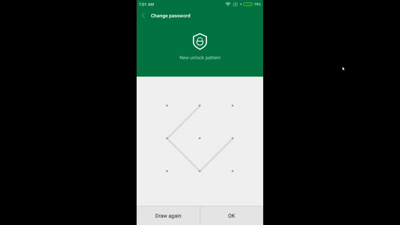Xiaomi Redmi 4A - How to Change App Lock Pattern