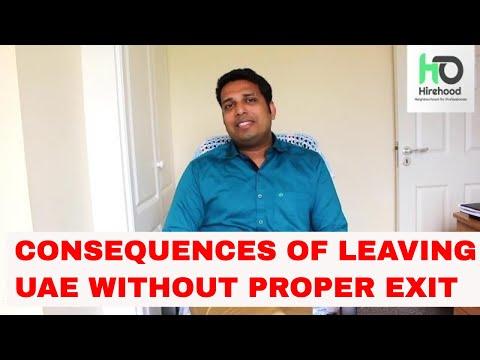 CONSEQUENCES OF LEAVING UAE WITHOUT PROPER EXIT -ഗൾഫ് രാജയങ്ങൾ നിന്നും പ്രോപ്പർ ആയി എക്സിറ് ആകുക