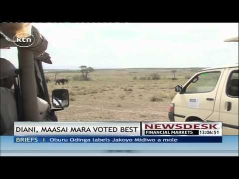 Diani Beach and Masai Mara National Park voted the best tourism destinations