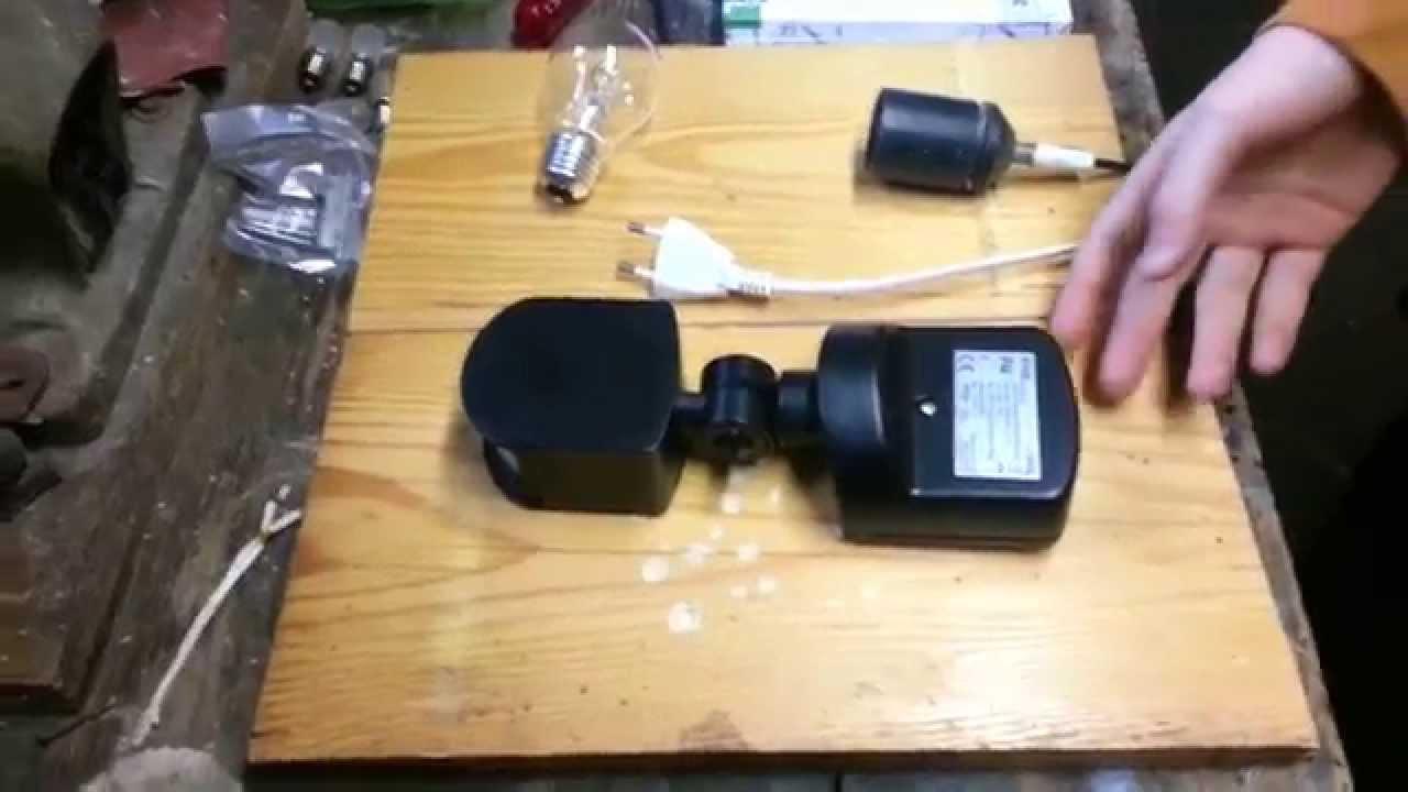 Plafoniera Da Esterno Con Sensore Di Movimento E Crepuscolare : Come eseguire il cablaggio di un sensore movimento youtube