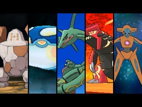 Pokemon Omega Ruby And Alpha Sapphire - All Hoenn Legendary Pokemon