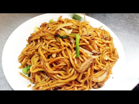 Chinese Stir Fried Vegetable Lo Mein Noodles Recipe 青菜炒麵 by CiCi Li