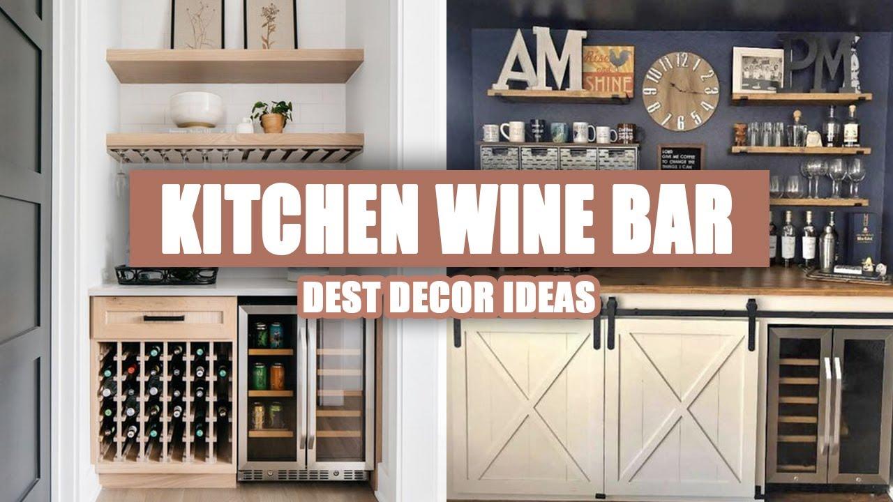 9+ Best Kitchen Wine Bar Design Ideas