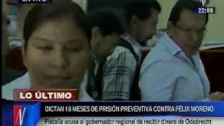 Dictan 18 meses de prisión preventiva contra Félix Moreno