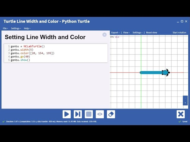 Setting Line Width and Color for the Python Turtle