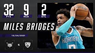 Miles Bridges drops 32 PTS in HUGE W vs. Nets