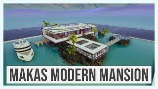 Makas Modern Mansion (includes Yacht)  #FortniteBlockParty | Fortnite Creative