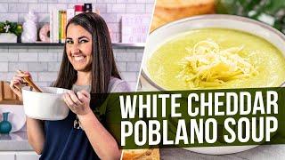 How to Make White Cheddar Poblano Soup